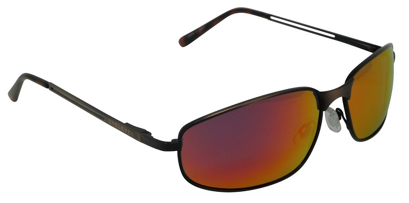 Capri Metal Sunglasses Polarized Red Mirror Cat-3  UV400 Lenses