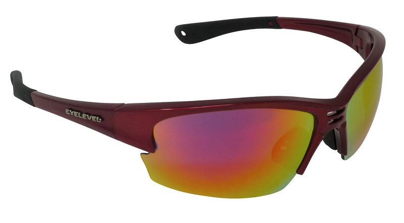 Delta Sports Sunglasses Red Mirror Cat-3 UV400 Shatterproof Lenses