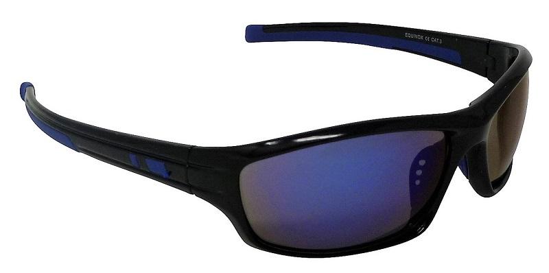 Equinox Sports Sunglasses Blue-tinted Mirror Cat-3 UV400 Shatterproof Lenses
