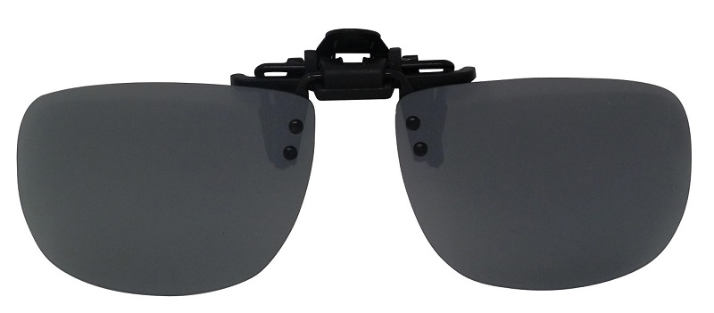 Clip-On Flip-1 Polarized Sunglasses Silver-Mirror Cat-3 UV400 Flip-up Lenses