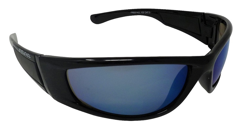 Freefall Sports Sunglasses Blue-tinted Mirror Cat-3 UV400 Shatterproof  Lenses