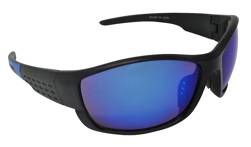 Galaxy Sports Sunglasses Blue Mirror Cat-3 UV400 Shatterproof Lenses