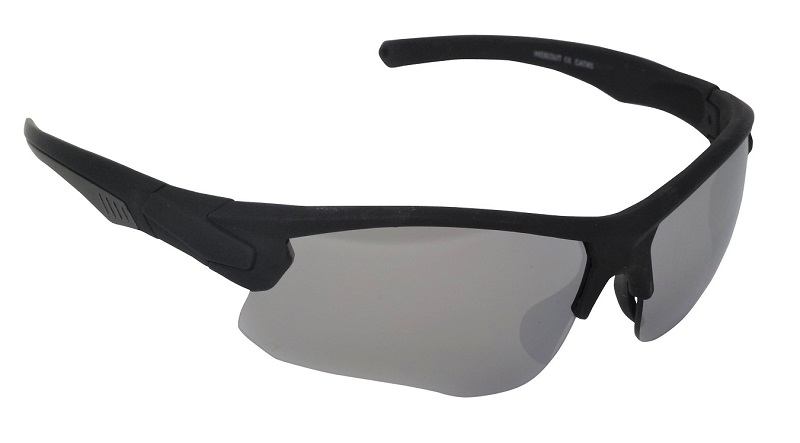 Hideout Sports Sunglasses Silver Mirror Cat-3 UV400 Shatterproof Lenses