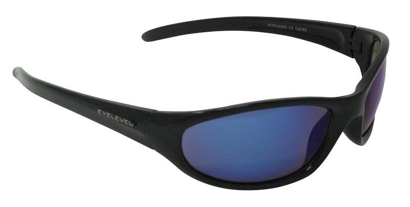 Intruder Sport Sunglasses Blue Mirror Cat-3 UV400 Shatterproof Lenses