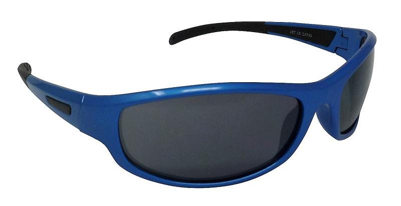 Jet Blue Sports Sunglasses Grey Cat-3 UV400 Shatterproof Lenses