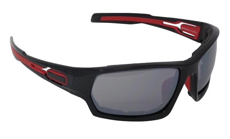 Magnum Sports Sunglasses Silver Mirror Shatterproof Cat-3 UV400 Lenses (R)