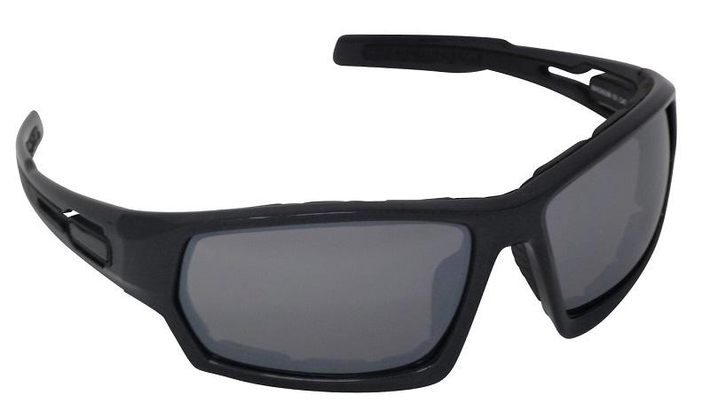 Magnum Sports Foam-lined Sunglasses Silver Mirror Shatterproof Cat-3 UV400 Lenses (C)