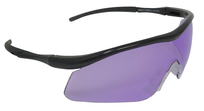 Impact Shooting Safety Glasses Purple UV400 Shatterproof Lens