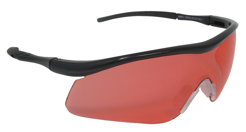 Impact Shooting Safety Glasses Vermillion UV400 Shatterproof Lens