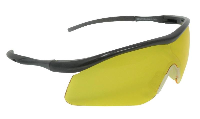 Impact Shooting Safety Glasses Yellow Shatterproof UV400 Lens