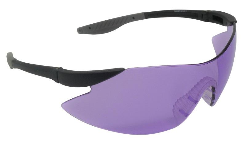 Target Shooting Safety Glasses Purple Shatterproof UV400 Lens