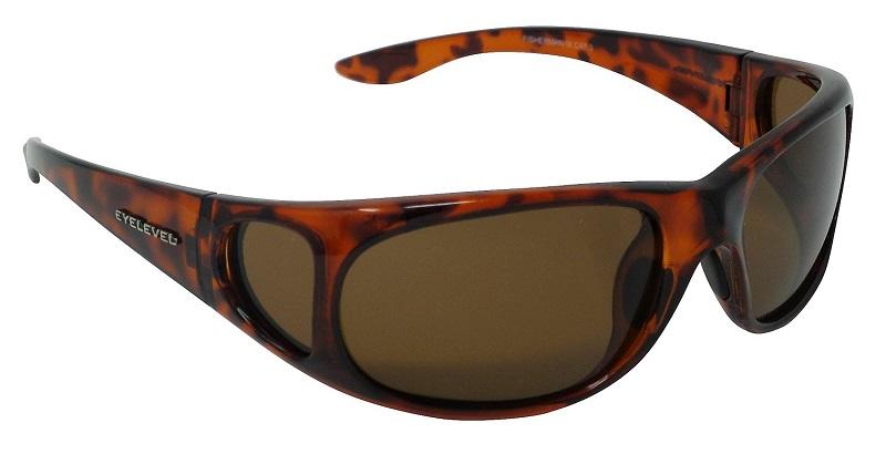 Fisherman Sunglasses Polarized Brown Cat-3 UV400 Lenses + Side Shields