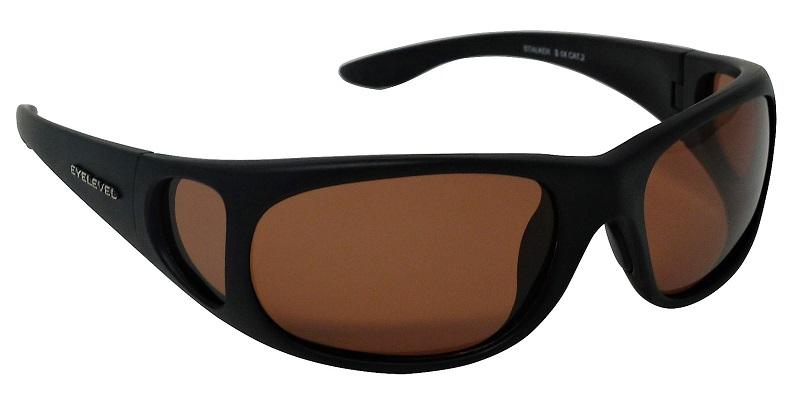 Stalker Sunglasses Polarized Amber Cat-2  UV400 Lenses + Side Shields