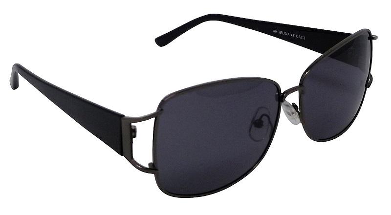 Angelina Womens Sunglasses Polarized Grey Cat-3 UV400 Lenses