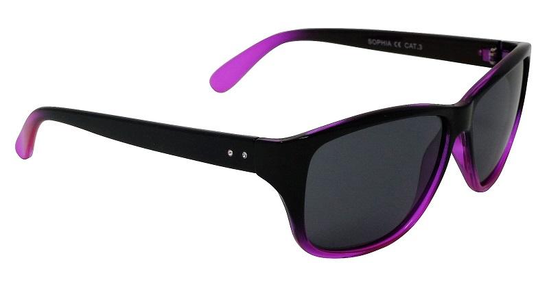 Sophia Womens Glamour Sunglasses Polarized Grey Cat-3 UV400 Lenses