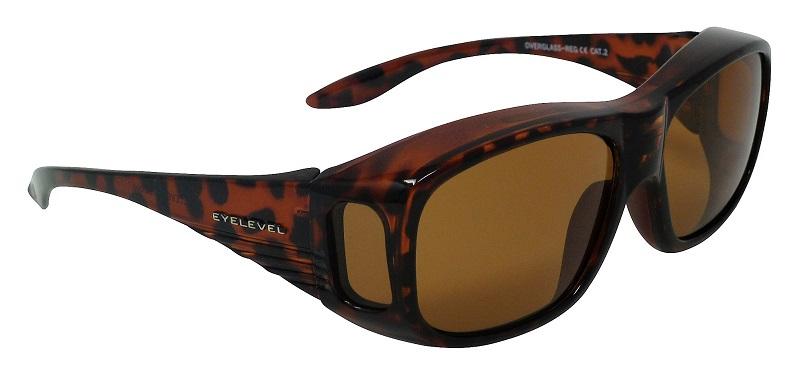 Regular Overglasses Polarized Brown Cat-2 UV400 Lenses