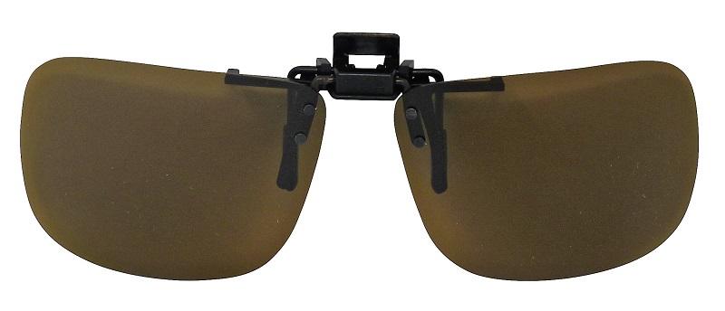 Clip-On  Sunglasses USA-2 Polarized Brown Cat-2 UV400 Lenses