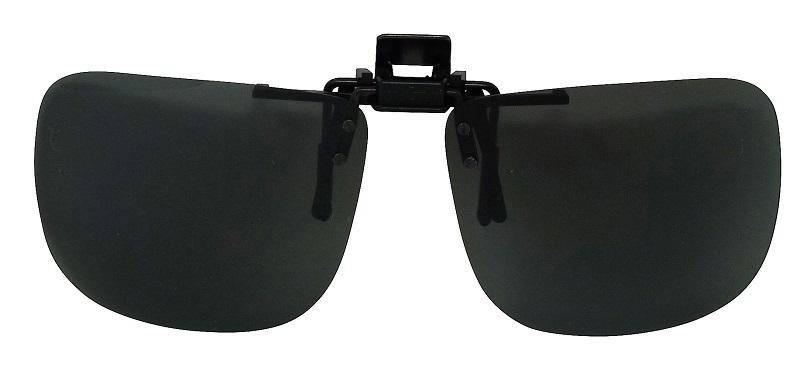 Clip-On Sunglasses USA-2 Polarized Grey Cat-3 UV400 Lenses