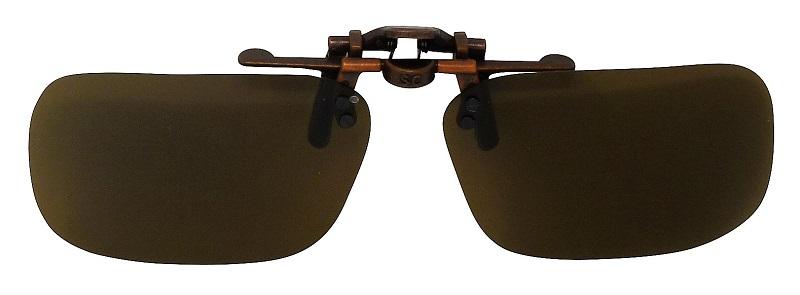 Clip-On Sunglasses USA-1 Polarized Brown Cat-2 UV400 Lenses