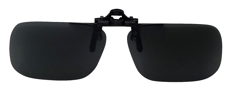 Clip-On Sunglasses USA-1 Polarized Grey Cat-3 UV400 Lenses