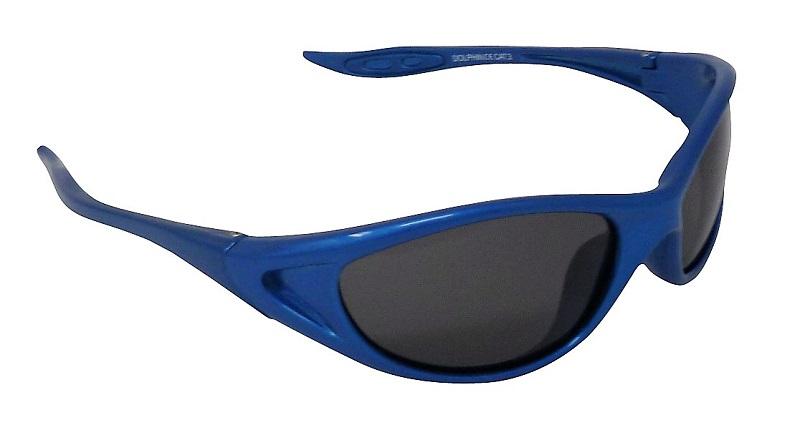 Dolphin Kids Blue Sunglasses Polarized Grey Cat-3 UV400 Lenses