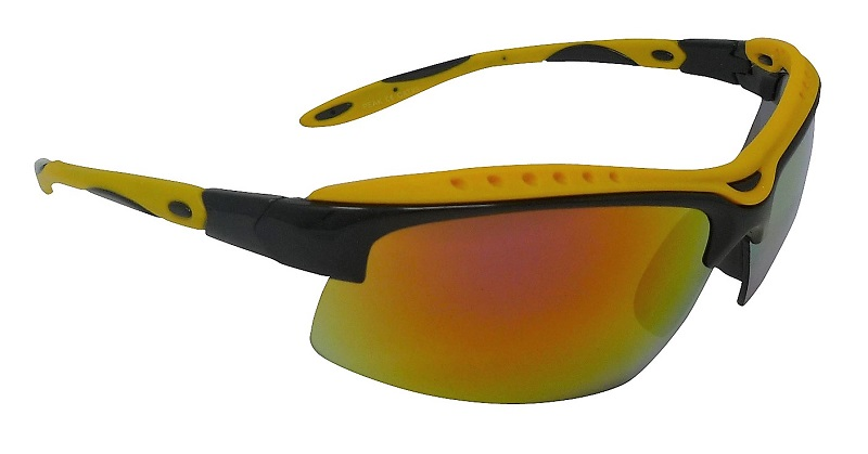 Peak Sports Sunglasses Yellow Multi-coated Mirror Cat-3 UV400 Shatterproof Lenses