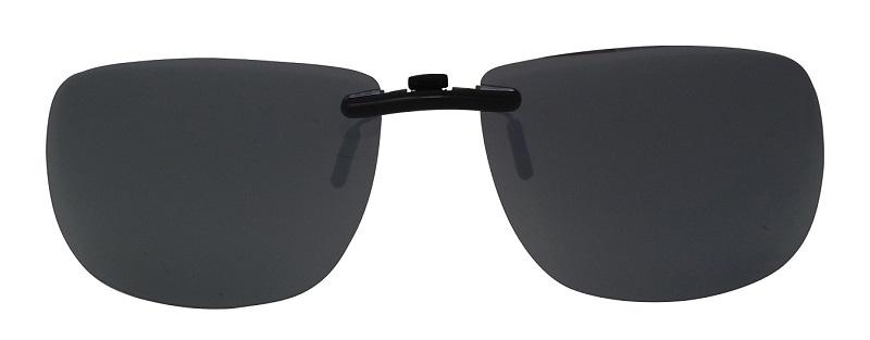 Clip-On Slide-A Polarized Sunglasses Silver-Mirror Cat-3 UV400 Lenses