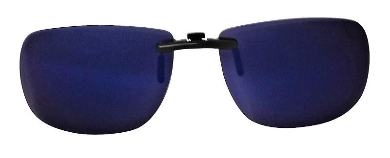 Clip-On Slide-A Polarized Sunglasses Blue-Mirror Cat-3 UV400 Lenses