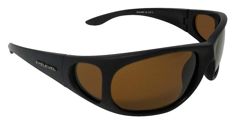Stalker Sunglasses Polarized Brown Cat-3 UV400 Lenses + Side Shields