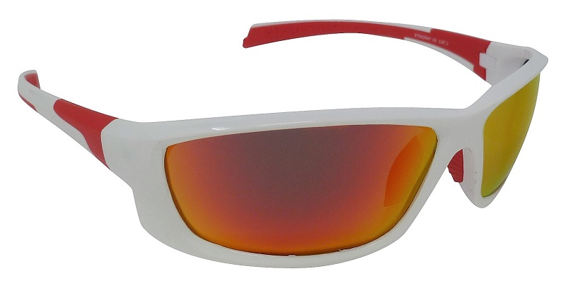 Stingray White Sunglasses Polarized Red Mirror Cat-3  UV400 Lenses