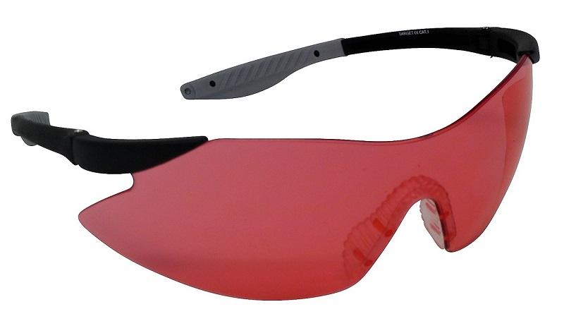 Target Shooting Safety Glasses Vermillion Shatterproof UV400 Lens