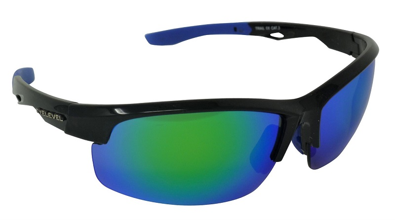 Trail Sports Sunglasses Blue-Mirror Cat-3 UV400 Impact Resistant Lenses