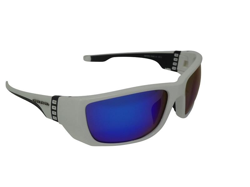 Waters Edge Premium White Sunglasses Polarized Blue Mirror Cat-3  UV400 Lenses