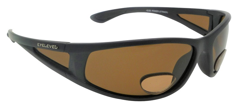 PowerStriker Sunglasses Polarized Brown Lenses with Bifocal+2.50 Insets