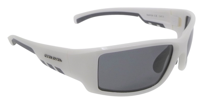Rapide White Sunglasses Polarized Grey Cat-3 UV400 Lenses