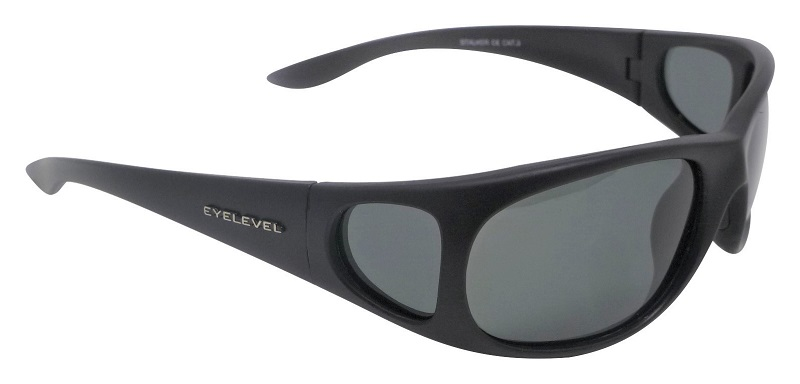 Stalker Sunglasses Polarized Grey Cat-3  UV400 Lenses + Side Shields