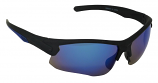 Hideout Sports Sunglasses  Blue Mirror Cat-3 UV400 Shatterproof Lenses