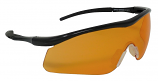 Impact Shooting Safety Glasses Orange Shatterproof UV400 Lens