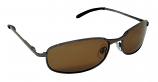 Ferrara Metal Sunglasses Polarized Brown Cat-3 UV400 Lenses
