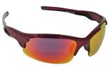 Spotlight Sport Sunglasses Red Mirror Cat-3 UV400 Shatterproof Lenses