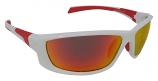 Stingray White Sunglasses Polarized Red Mirror Cat-3  UV400 Lenses