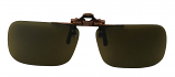 Clip-On Polarized Sunglasses NH-7 Brown UV400 Lenses