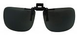 Clip-On Sunglasses USA-2 Polarized Grey Cat-3 UV400 Lenses