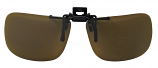 Clip-On  Sunglasses USA-2 Polarized Brown Cat-2 UV400 Lenses