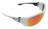 Waters Edge Premium White Sunglasses Polarized Red Mirror Cat-3 UV400 Lenses