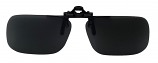Clip-On Sunglasses USA-1 Polarized Grey Cat-3 UV400 Lenses